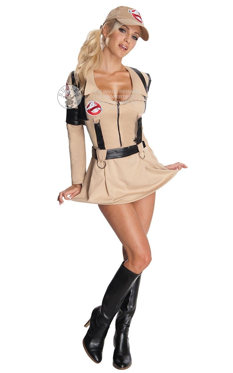 Sexy Ghostbusters Ladies Fancy Dress Costume Outfit Medium UK 12-14 ... 795af01e5