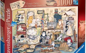 Ravensburger Crazy Cats Vintage Go Salvage Hunting 1000pc Jigsaw