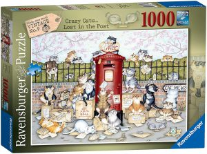 Ravensburger Crazy Cats Vintage Lost in The Post 1000pc Jigsaw